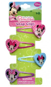 Minnie Mouse Hair Clips (4 Pack) - Disney Hair Accessories