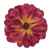Zinnia Artificial Flower Hair Clip/Pin Brooch, Fuchsia