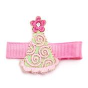 Reflectionz Girls Pink Birthday Hat Hair Clippie Accessory