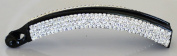 13cm Banana Clip with 4 rows of Rhinestones - Clear