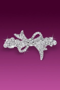 Clear Rhinestones Pretty Hairclip Hair Clip in Beautiful Bow Design
