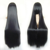 100cm Straight Costume Play Party Wig (Black) (Model