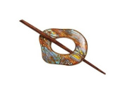 Buttons.etc Exotic Shawl Pins, 32502 - Copper Shell