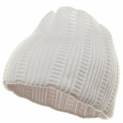 New Rasta Knit Head Band - White
