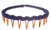 L. Erickson USA Zig Zag Headband - 100% Silk Dupioni