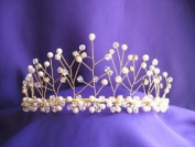 Beautiful Snowflake Gold Tiara