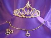 Regina D'italia Gold Tiara and necklace Princess Set