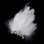 Giulietta Silver Feather Fascinator Wedding Bridal Hair Clip