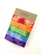 Elastic Hair Tie & Bracelet in One Tie Dye Mix 5PC