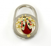 ". Foldable Handbag Holder Red ""Beetle"" Purse Hook"