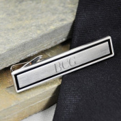 Exclusive Gifts and Favours-Black Border Designer Tie Clip By Cathy Concepts