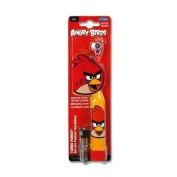 """ANGRY BIRDS """"TURBO POWER"""" BATTERY POWERED TOOTHBRUSH RED BIRD BATTERY INCLUDED"""