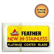 Feather Hi-Stainless Platinum Double Edge Razor Blades :