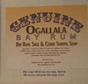 Two (2) Genuine Ogallala Bay Rum, Bay Rum & Sage and Cedar Shaving Soap - Each Puck 130ml