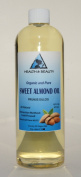 Sweet Almond Oil Organic Carrier Cold Pressed 100% Pure 470ml