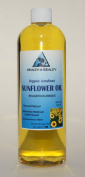 Sunflower Oil Organic Carrier Cold Pressed Unrefined Pure 950ml