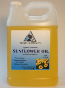 Sunflower Oil Organic Carrier Cold Pressed Unrefined Pure 3310ml, 7 LB, 1 gal