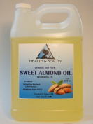 Sweet Almond Oil Organic Carrier Cold Pressed 100% Pure 3310ml, 7 LB, 1 gal