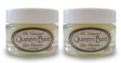 (2 jars) Queen Bee 100% All-Natural, Organic Under Eye & Anti Wrinkle Balm - Removes Dark Circles, Facial Lines and Wrinkles Naturally - 15ml each jar