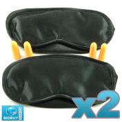 Bid-Buy-Direct Travel Eye Mask -Sleep Mask - Pack Of 2 With Ear Plugs