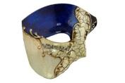 Venetian Mask Exclusive w/ Blue Musical Half Face Mask Men's Masquerade Mask