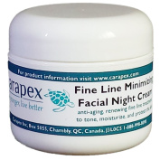 Carapex Facial Night Cream with Fine Line Minimizer, Anti-ageing Moisturiser, All Natural Ingredients, 60ml