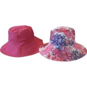 Sun Lily Fashion Flips Reversible Sun Hat with Tote - Womens