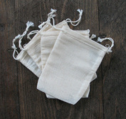 Cotton Muslin Bags 7cm x 10cm Double Drawstring 25 Count Pack