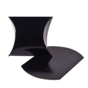 Black Pillow Boxes - Party Favour & Goody Bags & Paper Goody Bags & Boxes