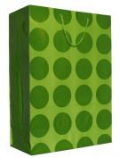 Hallmark's Lime Green Polka Dots Gift Bag - 3KHB 361J