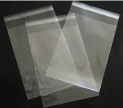 10cm . X 15cm . Flat Cellophane Bags with Adhesive Closure - pack of 100