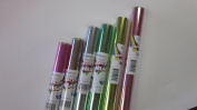 Iridescent Wrap - Assorted Colours - 6 Pack - Six Rolls of 80cm X 5'
