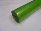 10m x 80cm Roll Tinted Lime Green Cellophane Wrap. Florist Quality Bouquet / ...