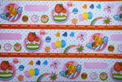 """Gift Wrapping Paper - """"Cute 100%"""" Cakes and Fruits"""