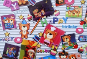 "Gift Wrapping Paper - ""Happy Birthday"" Bears"