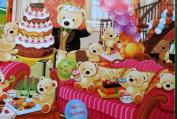 """Gift Wrapping Paper - """"Happy Birthday"""" Lovely Bears"""