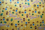 Gift Wrapping Paper - Merry Christmas and Christmas Ornaments