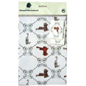 WRAPPING PAPER/TAGS WESTERN 2 SHEETS PER PACK