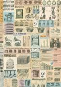 Cavallini & Co. French Ephemera Decorative Decoupage Poster Wrapping Paper Sheet