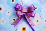 Gift Wrapping Decoration Flowers - Purple