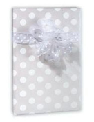 Pearl White Polka Dot Wedding Gift Wrap Paper - 16 Foot Roll Wedding Anniversary