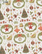 Christmas Icons Rolled Christmas Gift Wrap Paper