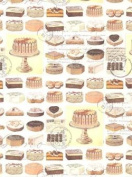 Cakes Rolled Gift Wrap Paper
