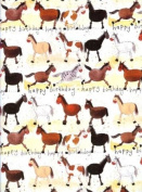 Horse Collection Happy Birthday Gift Wrap Paper