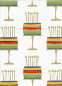 Birthday Cake on a Stand Rolled Gift Wrap Paper