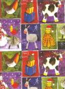 Farmyard Animals Rolled Christmas Gift Wrapping Paper