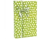 Citrus Twist Lime Green & White Polka Dot Gift Wrap Wrapping Paper 16 Foot Roll