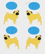 "Pug Rolled Gift Wrap ""Pugs Speak"""