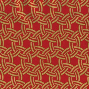 Sailor Knots Red on Gold Rolled Gift Wrap