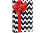 Black Chevron Gift Wrap 15 Foot Roll Wrapping Paper